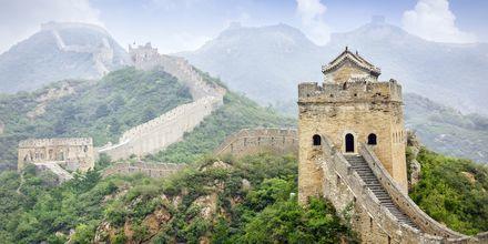 Kina är ett stort och mäktig resmål, med Kinesiska muren som främsta sevärdhet.