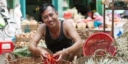 Marknad i Kina.