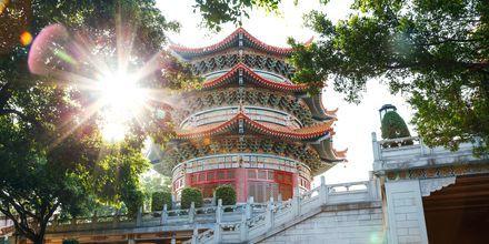 Vackert tempel i Guangzhou, Kina.