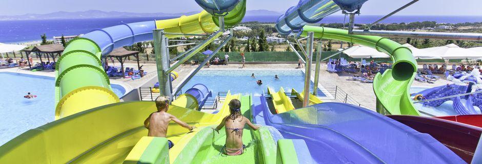 Vattenlandet på hotell Kipriotis Aqualand på Kos, Grekland.