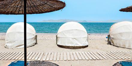 Stranden vid hotell Kipriotis Aqualand på Kos.