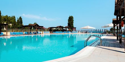Poolområdet på hotell Kipriotis Aqualand på Kos.