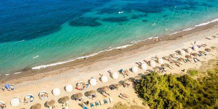 Stranden vid hotell Kipriotis Aqualand på Kos, Grekland.
