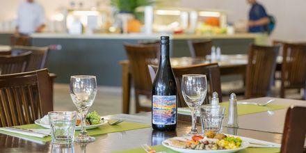 Restaurang på hotell Kipriotis Aqualand på Kos, Grekland.