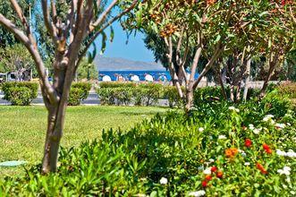 Trädgården på hotell Kipriotis Maris på Kos, Grekland.