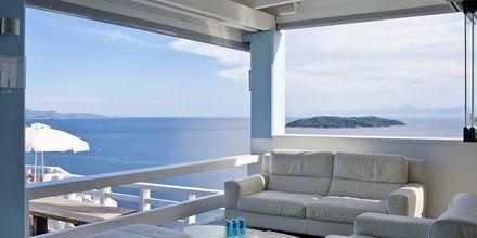 Bar på hotell Kivo Art & Gourmet i Vasilias på Skiathos, Grekland.