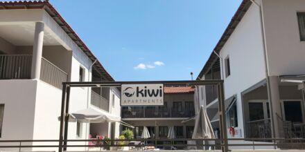 Hotell Kiwi i Agii Apostoli på Kreta, Grekland