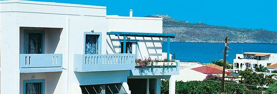 Hotell Kleopatra i Kato Stalos på Kreta, Grekland.
