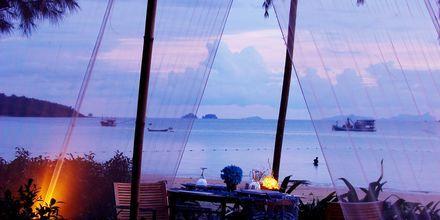 Strandrestaurangen på Apollos hotell Dusit Thani Krabi Beach Resort.