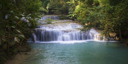 Vattenfall i djungeln på Koh Chang.