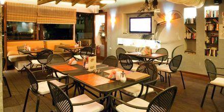 Restaurang på hotell Kokalas Resort i Georgiopolis på Kreta, Grekland.