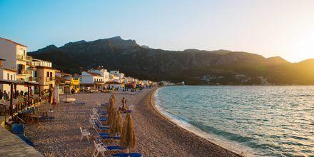 Kokkaristranden på Samos, Grekland.