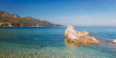 Mysig liten vik i Kokkari på Samos.
