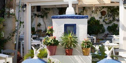 Blått och vitt i Kokkari på Samos, Grekland.