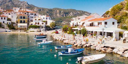 I Kokkari på Samos väntar en genuint grekisk atmosfär.