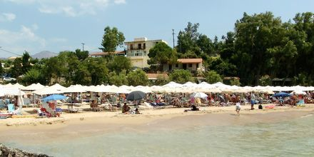 Stranden vid Kolokotronis Hotel & Spa i Stoupa, Grekland.