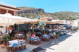 Restaurang i Kolymbari på Kreta, Grekland.