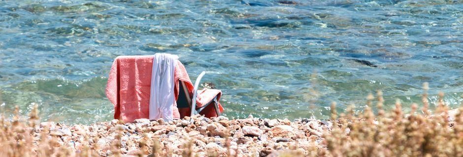 Strand i Kolymbari på Kreta, Grekland.