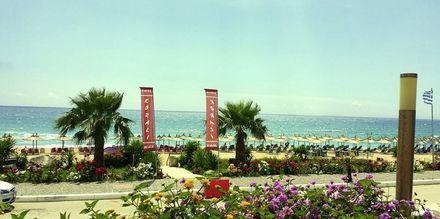Utsikt från hotell Korali House i Vrachos, Grekland.