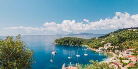 Norra Korfu i Grekland.