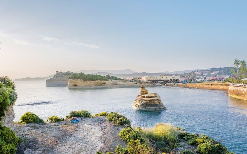 Sidari på Korfu, Grekland.