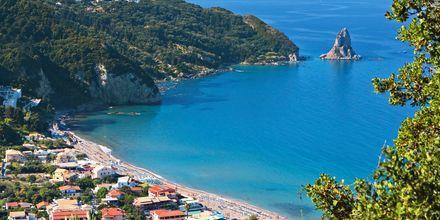 Agios Gordis på Korfu, Grekland.