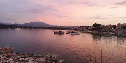 Utsikt från det gamla fortet i Korfu stad, Grekland.