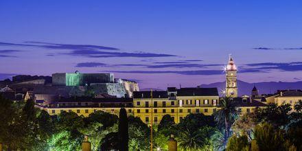 Utsikt över det venetianska fortet i Korfu stad.