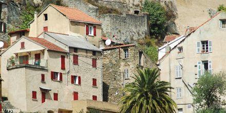 Staden Cap Corte på Korsika.