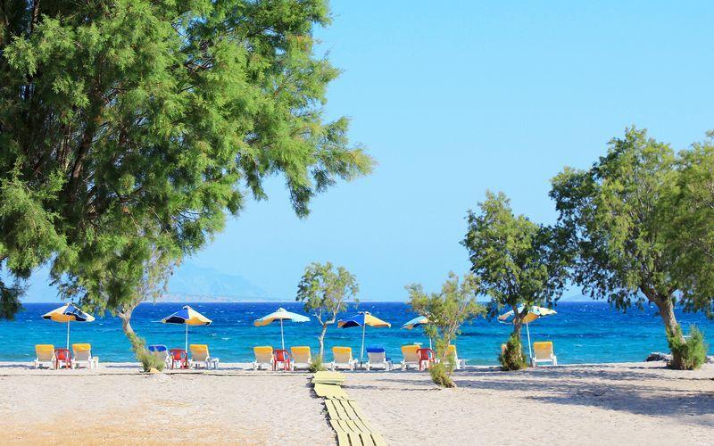 På Kos i Grekland finns det gott om vackra stränder.