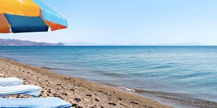 Strand i Kos stad, Grekland.