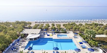 Hotell Kouros Seasight i Pythagorion på Samos, Grekland.