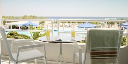 Dubbelrum på hotell Kouros Seasight i Pythagorion på Samos.