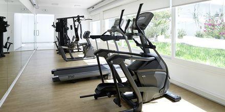 Gym på hotell Kouros Seasight i Pythagorion på Samos, Grekland.