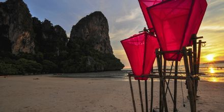 Railey Beach i Krabi, Thailand.