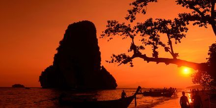 Railay Beach i Krabi, Thailand.