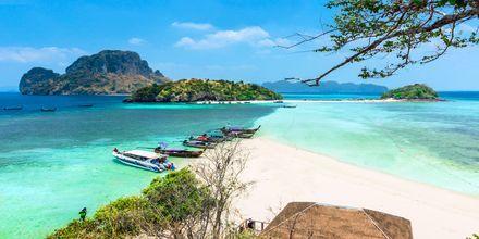 Chicken Island utanför Krabi, Thailand.