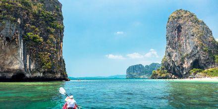 Phra Nang Beach utanför Krabi, Thailand.