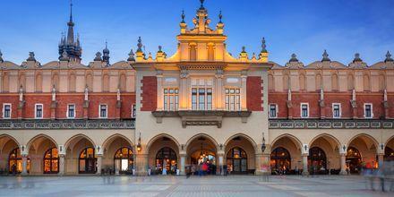 Rynek Glówny, torget i gamla stan.