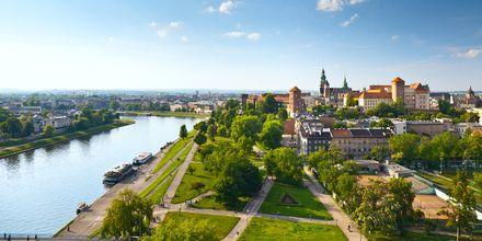 Krakow, Polen från ovan.