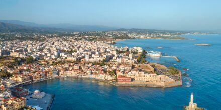 Chania stad på Kreta, Grekland.