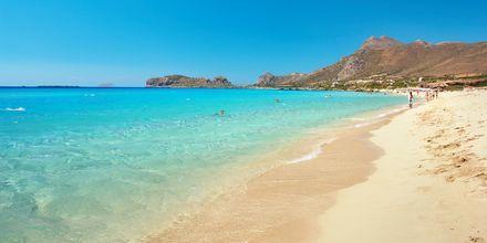 Sandstranden Falassarna är ett populärt utflyktsmål på Kreta.