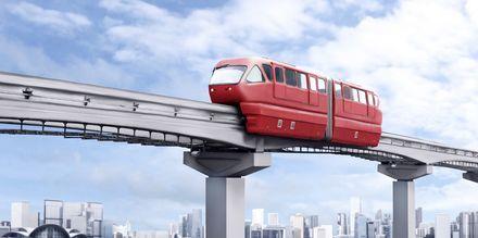 Monorail-tåg i Kuala Lumpur - ett bra sätt att ta sig omkring!