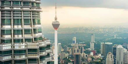 TV-tornet Menara Kuala Lumpur är en av stadens mest kända sevärdheter.