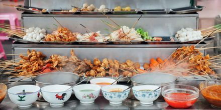 """""""Lok lok"""" är en vanlig snabbmatsrätt i Kuala Lumpur, som du tillagar själv."""