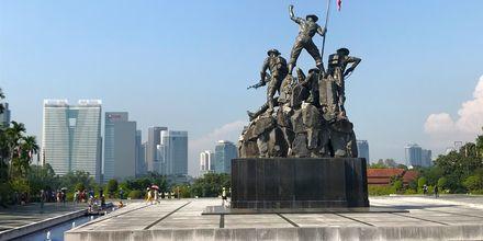 En av stadens många sevärda monument.