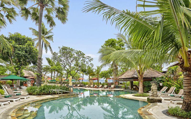 Apollos hotell Legian Beach i Kuta på Bali, Indonesien.