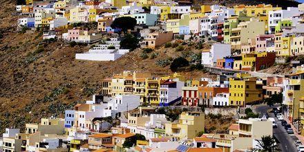 Färgglada hus i San Sebastián på La Gomera.