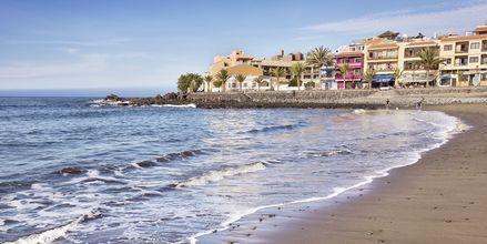 Stranden i Valle Gran Rey där Apollos hotell ligger.