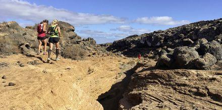 Terränglöpning på Fuerteventura.